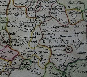 Leutkirch im Allgäu - Location of the Free Imperial City in southeastern Swabia