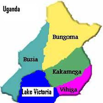 Luhya people - The four traditional districts of Western Province, Kenya.