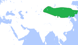 Liao dynasty at its greatest extent, c. 1000