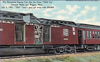 Harvey Logan - The dynamited Great Northern express car robbed July 3, 1901