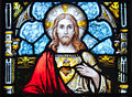 Kildare White Abbey North Transept Window Sacred Heart of Jesus Detail 2013 09 04.jpg