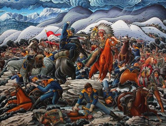 Kim Douglas Wiggins painting of the Fetterman Massacre