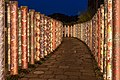 Kimono Forest at night, Arashiyama Station, Arashiyama, Kyoto, Japan.jpg