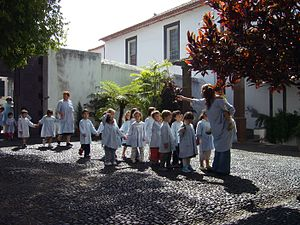 Education in Portugal - Children and educators from the Santa Clara Community kindergarten, Funchal.