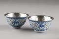 Kinesiska mingkoppar med innerskålar av silver, från 1650 eller tidigare - Hallwylska museet - 95627.tif