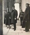 King George I of Greece and King Vittorio Emanuele III of Italy on the Acropolis in Athens.png