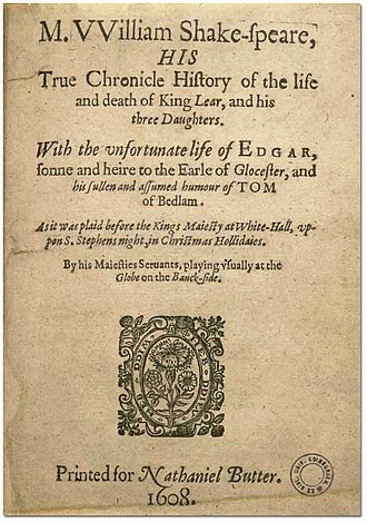 False Folio - Image: King Lear 1619