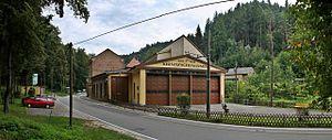 Kirnitzschtal tramway - The depot of the Kirnitzschtal Tramway.