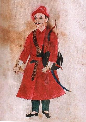 Kirtiman Singh Basnyat - Portrait of Mulkaji Kirtiman Singh Basnyat