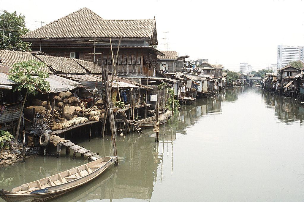Photo de khlong à Bangkok.