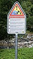 Klosters-near Suspension bridge Schlappintobel-warning sign-01.jpg