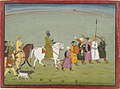 Krishna rides to Kundulpur. Illustration from a Bhagavata Purana series..jpeg
