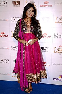 Kritika Kamra at the Colors Indian Telly Awards, 2012.
