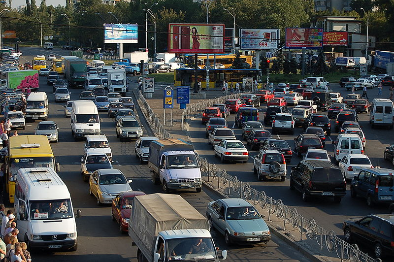 File:Kyiv traffic jam.JPG