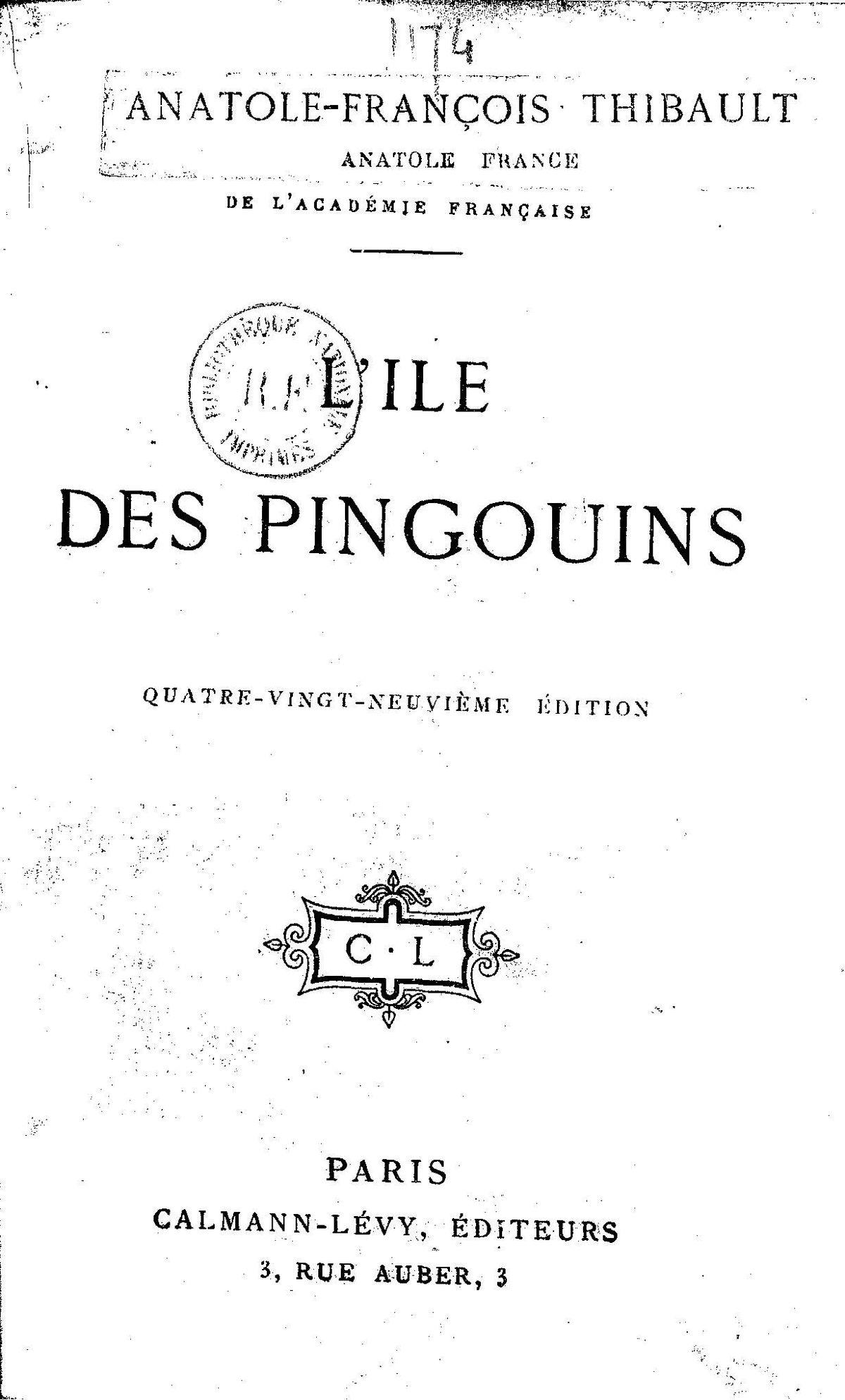 penguin island anatole france pdf