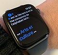 L'article de la lettre R de Wikipédia en français affiché via l'application MiniWiki sur une Apple Watch.jpg