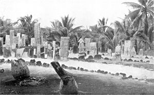 Ontong Java Atoll - Large general cemetery, Luaniua, Ontong Java. Picture by George Brown (missionary) (1835 – 1917).