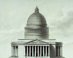 La Madeleine, Paris - Etienne-Louis Boullée's project for the church (1777-1781)
