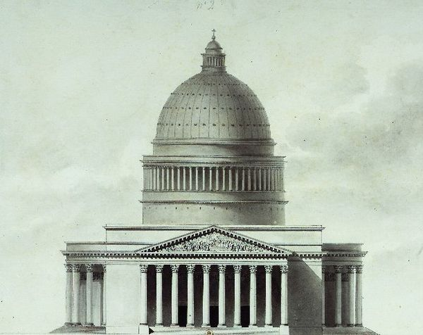 Etienne-Louis Boullee's project for the church (1777-1781) La Madeleine - Projet Couture.jpg