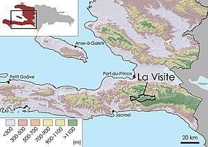 Topographic Map Of Haiti.La Visite National Park Wikipedia