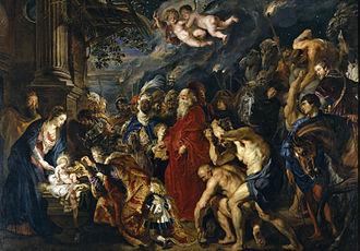 Adoration of the Magi (Rubens, Madrid) - 355.5 cm (11.6 ft) x 493 cm (16.1 ft)