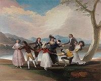 La gallina ciega (cartón restaurado) por Francisco de Goya.jpg