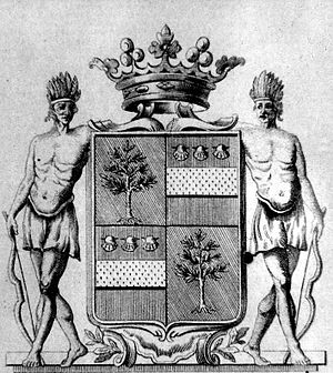 Arnaud I de La Porte - The de La Porte arms, engraved by his son, the bishop of Carcassonne