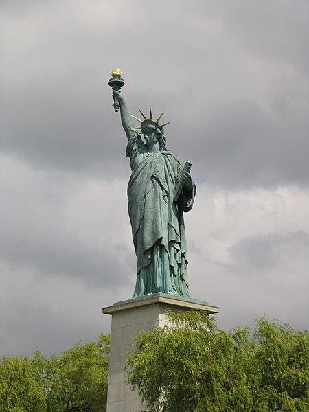 Fichier:La statue de la Liberté du pont de Grenelle à Paris.JPG