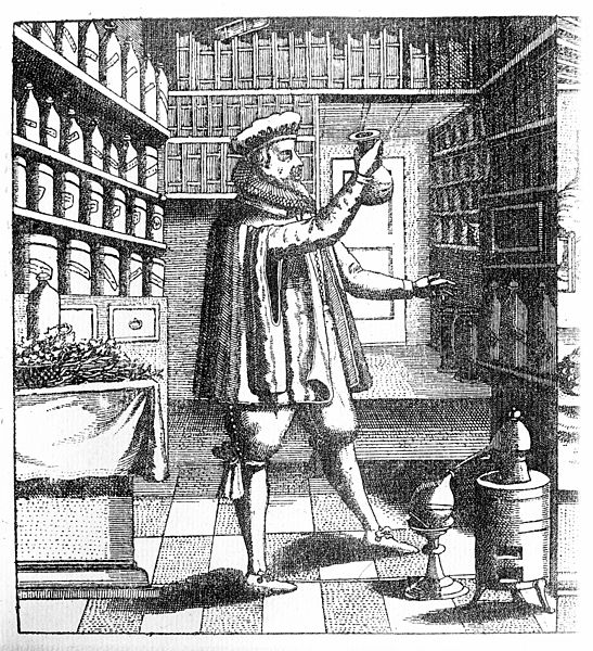 File:Laboratory and library of an apothecary Wellcome M0007386.jpg