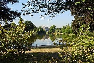 """16th arrondissement of Paris - Lake """"supérieur"""" in Bois de Boulogne"""