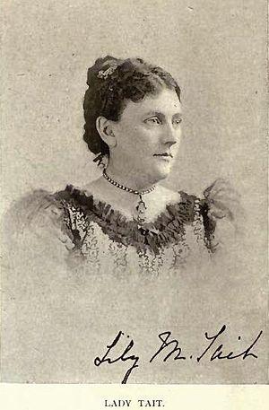 Melbourne McTaggart Tait - Lady Lily M. Tait by William Notman