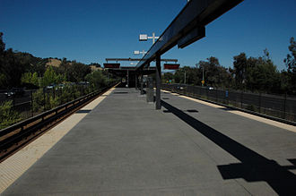 Lafayette station (BART) - The Lafayette BART Station boarding platform