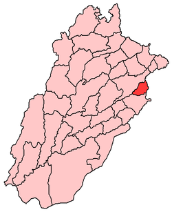 District location within Punjab Province