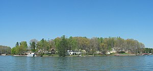 Davidson, North Carolina - A view of Lake Norman in the spring.