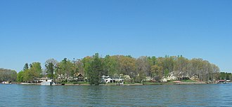 Davidson, North Carolina - A view of Lake Norman in the spring