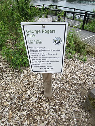 George Rogers Park - Signage for the park, 2018