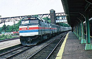 Lake Shore Limited - The Lake Shore Limited at Poughkeepsie in 1978