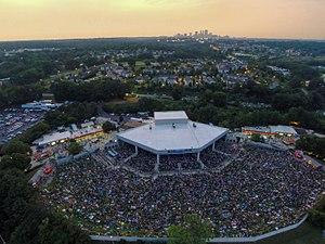 Cellairis Amphitheatre at Lakewood - Aerial view of venue, 2013