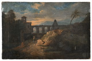 Landscape with Buildings and an Aqueduct