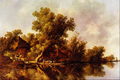 Landscape with Ferry - Jacob van Ruysdael.png