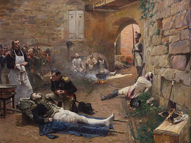 Наполеон возле смертельно раненого Ланна. Бутиньи (1894)