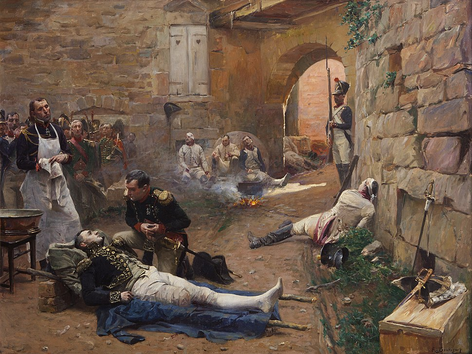 Lannes mortally wounded at Essling (E. Boutigny)