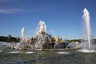 Latona Fountain fountain in the Latona Basin of the Gardens of Versailles