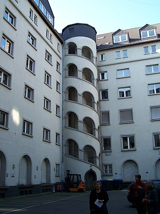 Staircase tower - Latscha Building, Frankfurt-Ostend
