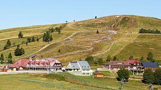 Le Markstein ski resort in France