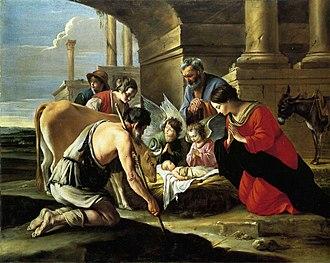 Adoration of the Shepherds (Le Nain) - Adoration of the Shepherds by the Le Nain Brothers
