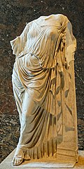 Aphrodite leaning against a pillar