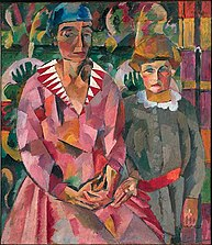 Portrait of Artist's Wife and Daughter, 1915