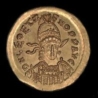 Leo II (emperor) - Coin issued during the joint rule of Leo II and Zeno.