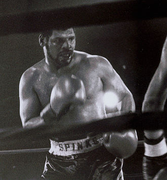"Leon Spinks - Spinks during his final victory held at the ""Little bit of Texas"" in St.Louis"